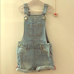 Gap girls denim overall.